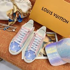 Louis vuitton/LV neutral couple sport shoe casual lace-up sneaker flat white shoe lightweight athletic shoe male size39-44 female 35-40