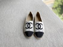 Chanel female canvas casual flat espadrille convenient slip-on multiple color option