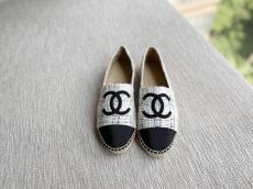 Chanel female canvas casual flat espadrille convenient slip-on multiple color option