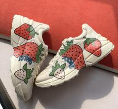 Gucci female casual shockproof vintage dirty shoe lace-up skim-proof sneaker slip-on with divergent lovely printing motif
