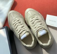 Gucci female casual shockproof vintage dirty shoe lace-up skim-proof sneaker slip-on with divergent lovely printing motif excellent street wear