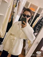 Hermes female two-pieces-set cold-proof cashmere trench coat bathrobe-style dust coat with waisted belt dedium size