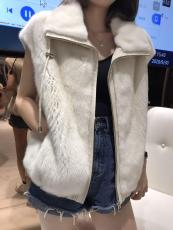 Louis vuitton /LV female luxury mink fur vest outerwear with fluffy collar winter outdoor Mink jacket excellent Mink fur waistcoat for lover girlfriend