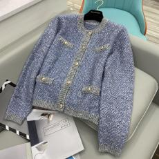 Chanel female casual windproof collarless woollen sweater breathable cardigan autumn warm outerwear tight knitwear