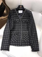 Chanel lady's  vintage collarless fit warm jacket autumn thin windproof outerwear coat high-end chanel ready to wear excellent party wear