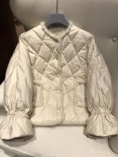 Hermes woman's casual collarless down coat winter thick down jacket waterproof down outerwear suede windbreaker excellent birthday gift for girlfriend female elder