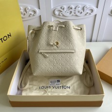 Louis Vuitton/LV woman's embossed drawstring Montsouris backpack top-handle bucket bag