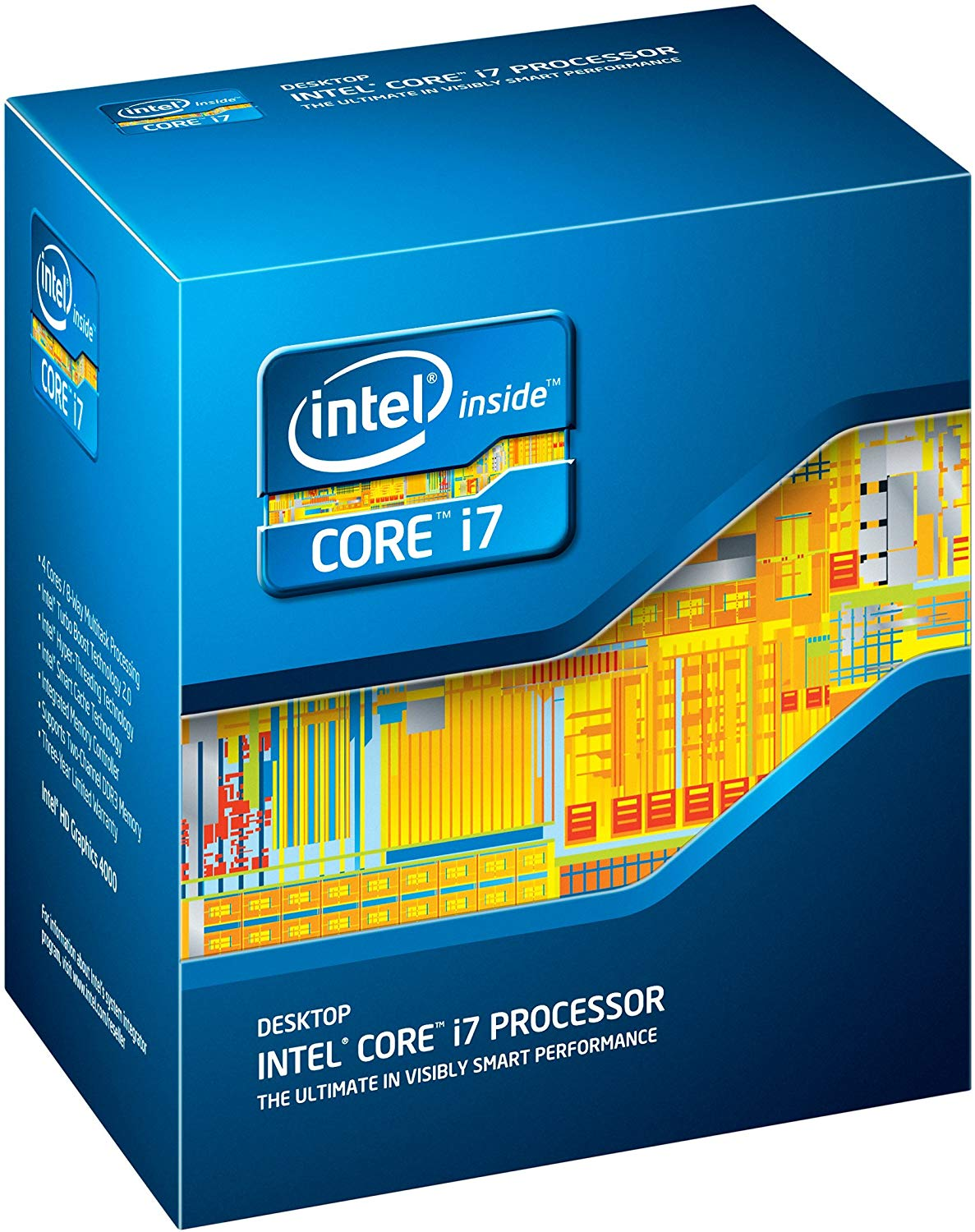 Intel Core i7-3770K Ivy Bridge Quad-Core 3.5GHz (3.9GHz Turbo) LGA 1155 77W BX80637I73770K Desktop Processor Intel HD Graphics 4000