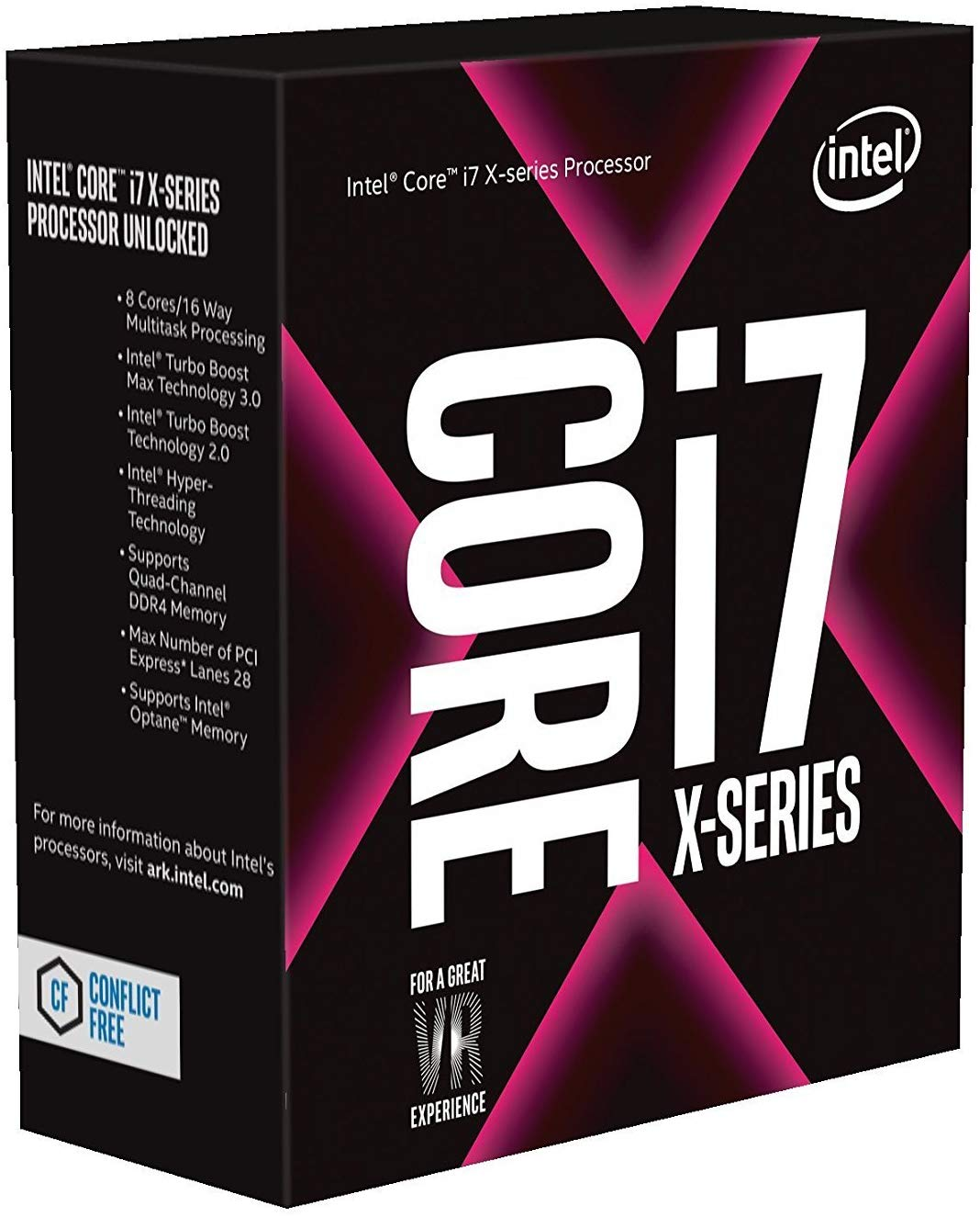 Intel Core i7-7820X X-Series Processor 8 Cores up to 4.3 GHz Turbo Unlocked LGA2066 X299 Series 140W