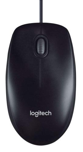 Logitech M100 Corded Mouse – Wired USB Mouse for Computers and Laptops, for Right or Left Hand Use, Black