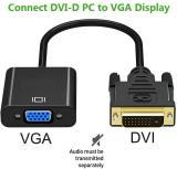 CORN DVI to VGA Adapter Converter - 1080P Male to Female M/F Video Adapter Cable for 24+1 DVI-D to VGA for DVI Device, Laptop, PC to VGA Displays, Monitors, Projectors (DVI2VGA)
