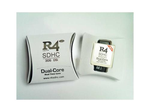 New R4I 2018 SDHC Dual Core Flash Card Adapter for DS DSI 2DS 3DS New3DS & All DS Consoles - White