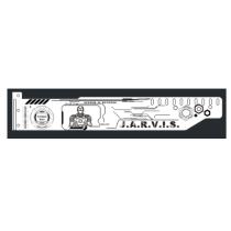 Corn Electronics Universal 11 Colors Remote Control LED Acrylic GPU Brace 11'' - IORNMAN