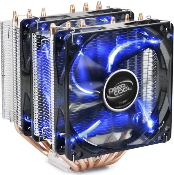 DEEPCOOL CPU Cooler Neptwin V2, 6 Heatpipes, Twin-Tower Heatsinks, Dual 120mm LED Fans, Highly Polished Copper Base, AM4 Compatible