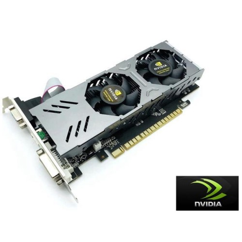CORN GTX 750 128-Bit 4GB GDDR5 Graphic Card with dual fans DirectX12 Video Card GPU PCI Express 3.0 VGA/DVI-D/HDMI,Play for LOL,PUBG,OW,War Thunder etc.