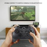 CORN Bluetooth Switch Pro Controller, Wireless Controller Compatible with Nintendo Switch, Supports Gyro Axis Function & Dual Shock Half Transparent