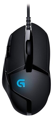 Logitech G402 910-004069 Black 8 Buttons 1 x Wheel USB Wired Optical 4000 dpi Hyperion Fury FPS Gaming Mouse with High Speed Fusion Engine