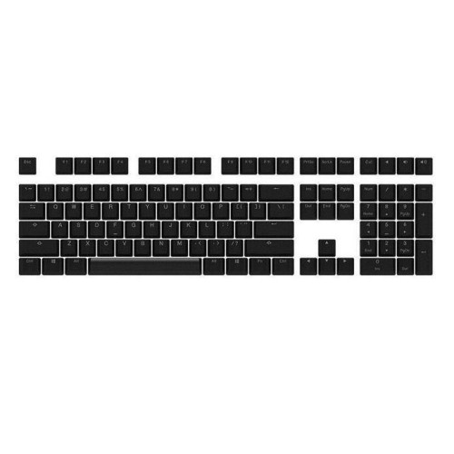 Akko 108 Key OEM Profile PBT Keycaps Keycap Set for Mechanical Keyboard(Black), Light Transmission Version