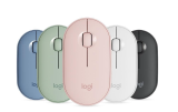 [New Arrival]Logitech PEBBLE Bluetooth Mouse Thin&Light 1000DPI 100g High Precision Optical Tracking Unifying Colorful Mouse