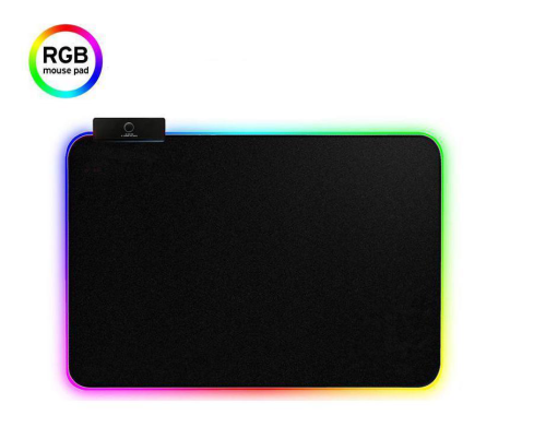 RGB LED Gaming Mouse Pad - 13.7 x 10.3 x 0.4 inches - Lighting Computer Mice Mat, Mousepad for Gamers,14 Modes Cool Light Effect, Non-Slip Rubber Surface Optimized for All (360X260X3mm)