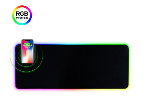 MP-001 RGB LED Gaming Mouse Pad -770X295X4mm, 10 Modes Cool Light Effect, Convenient Fast Charging Function