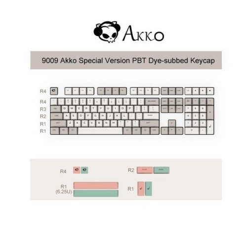 Akko 9009 Special Version 108 Key OEM Profile PBT Dye-subbed Keycap Keycaps Set for Mechanical Keyboard