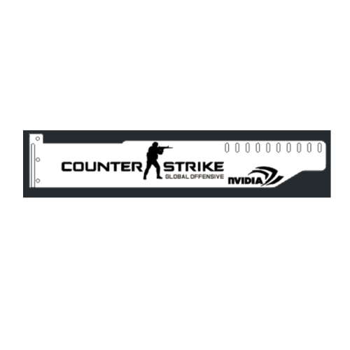 Corn Electronics Universal 11 Colors Remote Control LED Acrylic GPU Brace 11'' - CSGO
