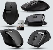 2.4GHz Rapoo 3200 Ergonomic Usb Wireless Laser 6 Buttons PPO Multi Mode Mouse Black