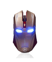 NAFFEE G5 2.4GHz Wireless 2400DPI 6D 6 Buttons Optical USB Dongle Cordless Gaming Mouse - with Silence Buttons and High-Precision, No Light Sensor plus Auto Sleep Function