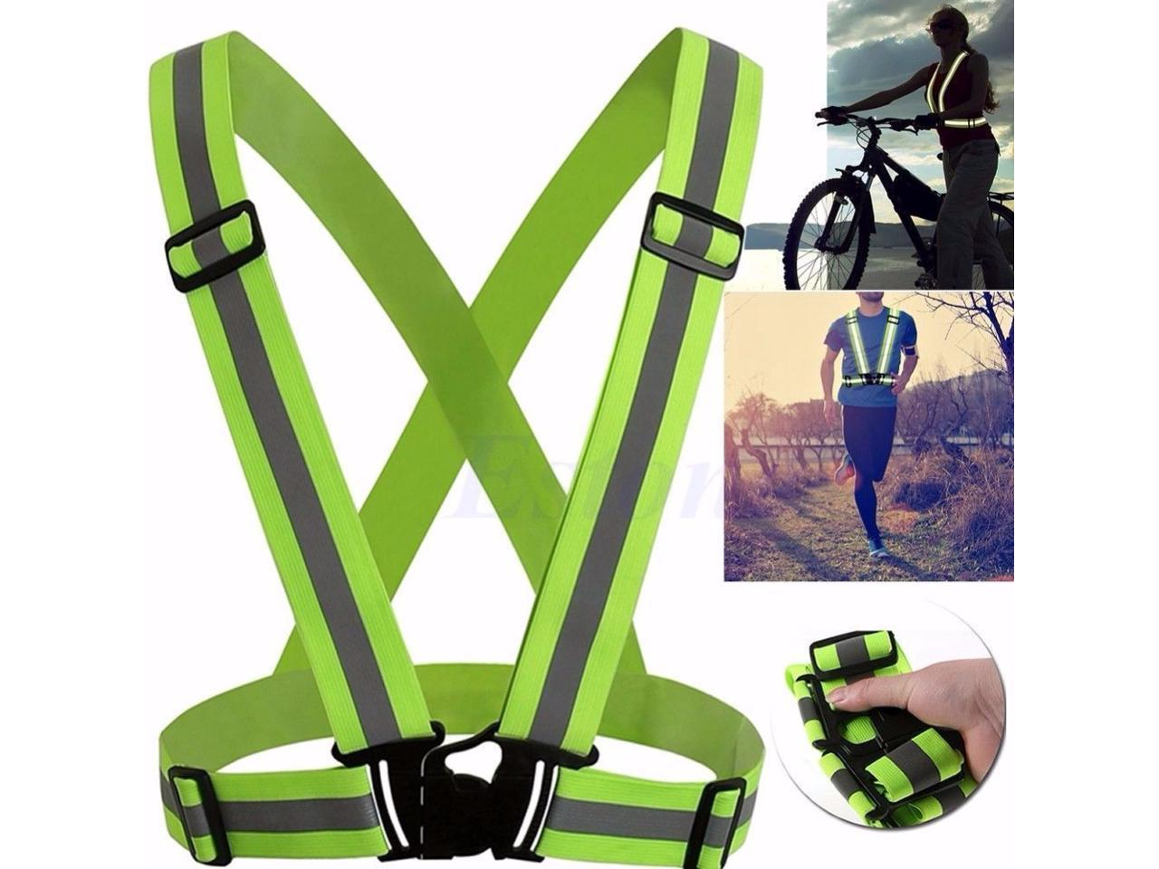 CORN Adjustable Safety Security High Visibility Reflective Vest Gear Stripes Jacket Night Running