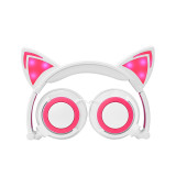 CORN CL107 Cartoon Cat LED Light Headset, Noise-Reduction,Wide Compatability for Different Devices