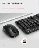 CORN V30 Ergonomic Design,Cool Exterior 2.4Ghz Wireless Keyboard And 1200DPI Mouse Combo For Office And Game