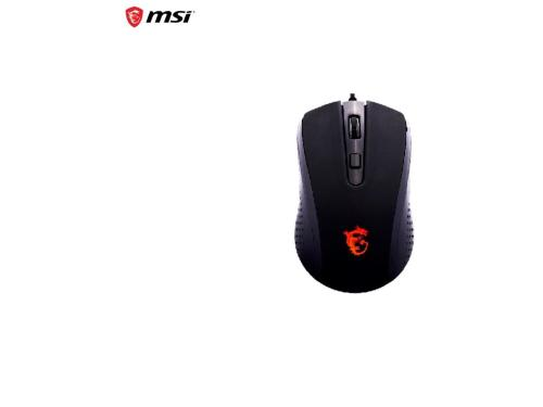MSI DS86 2000DPI Wired Optical Gaming Mouse for PC and Laptop, Widely Compatible with Windows and Mac