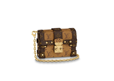 Louis Vuitton Monogram Canvas Essential Trunk Chain Bag Brown M68575