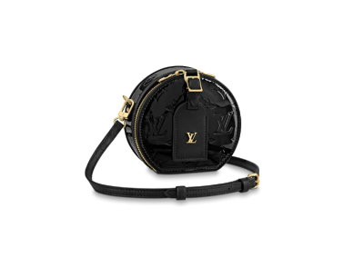 Louis Vuitton Monogram Vernis Mini Boite Chapeau Bag Black M90469