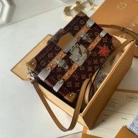 Louis Vuitton Monogram Canvas Petite Box Malle Handbag  M52737