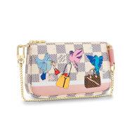 Louis Vuitton Damier Azur Mini Pochette Accessoires Chain Bag N64451