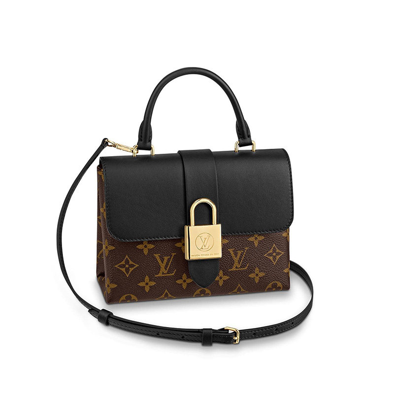 Louis Vuitton Monogram Canvas Locky BB Shoulder Bag Black M44141