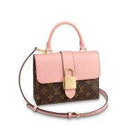 Louis Vuitton Monogram Canvas Locky BB Shoulder Bag Pink M44080