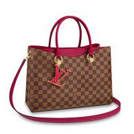 Louis Vuitton Damier Canvas LV Riverside Tote Bag Rose N40052