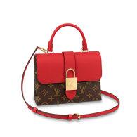 Louis Vuitton Monogram Canvas Locky BB Shoulder Bag Red M44322