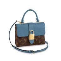 Louis Vuitton Monogram Canvas Locky BB Shoulder Bag Blue M44321