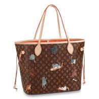 Louis Vuitton Monogram Canvas Neverfull MM Tote Bag Brown M44441