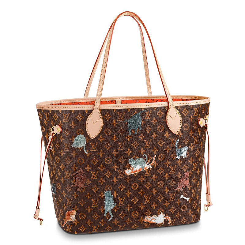 Louis Vuitton Monogram Canvas Neverfull MM Tote Bag Brown M44441