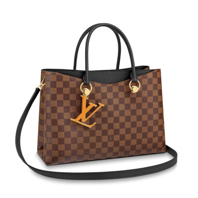 Louis Vuitton Damier Canvas LV Riverside Tote Bag Black N40050