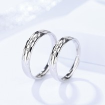silver open ring 734