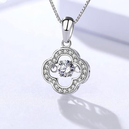Silver Four-leaf clover pendant 974