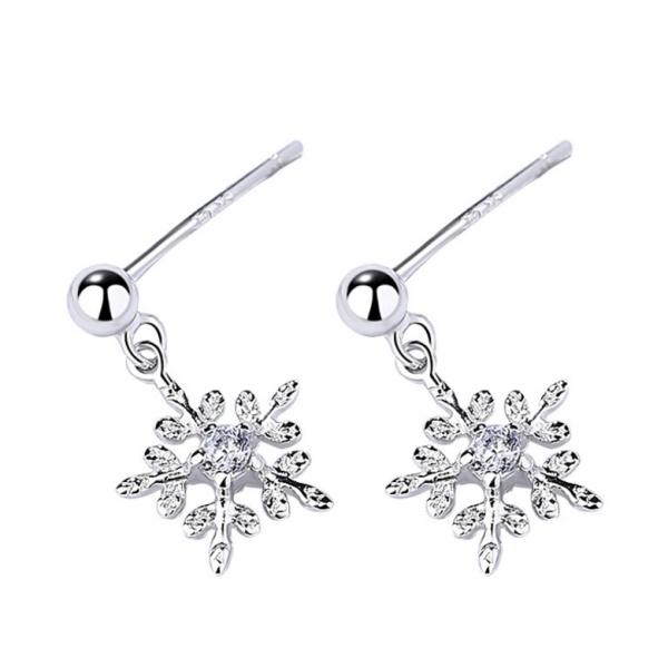 Silver Snowflake Earrings 1197