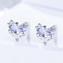 Silver fox earrings 497