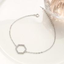 silver Hexagonal bracelet MLB252a